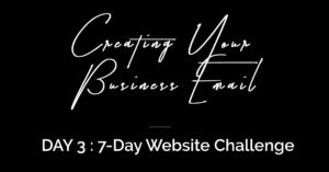 Day 3 Build Your website challenge